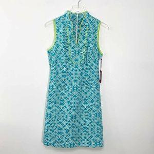 Vince Camuto Size 8 Sheath Dress Turquoise Blue